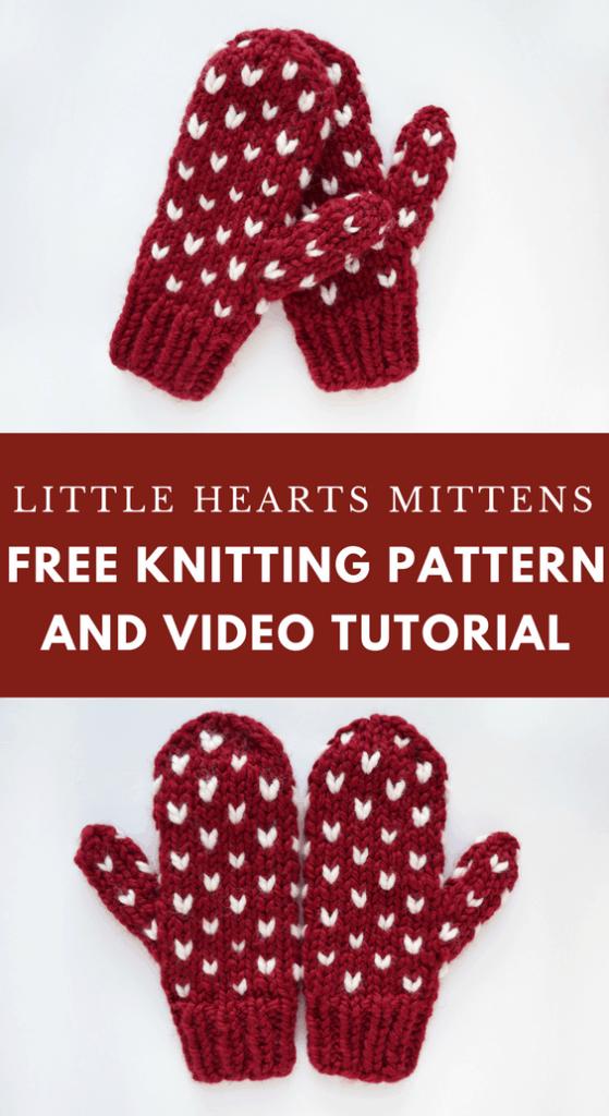Little Hearts Mittens – Free Pattern