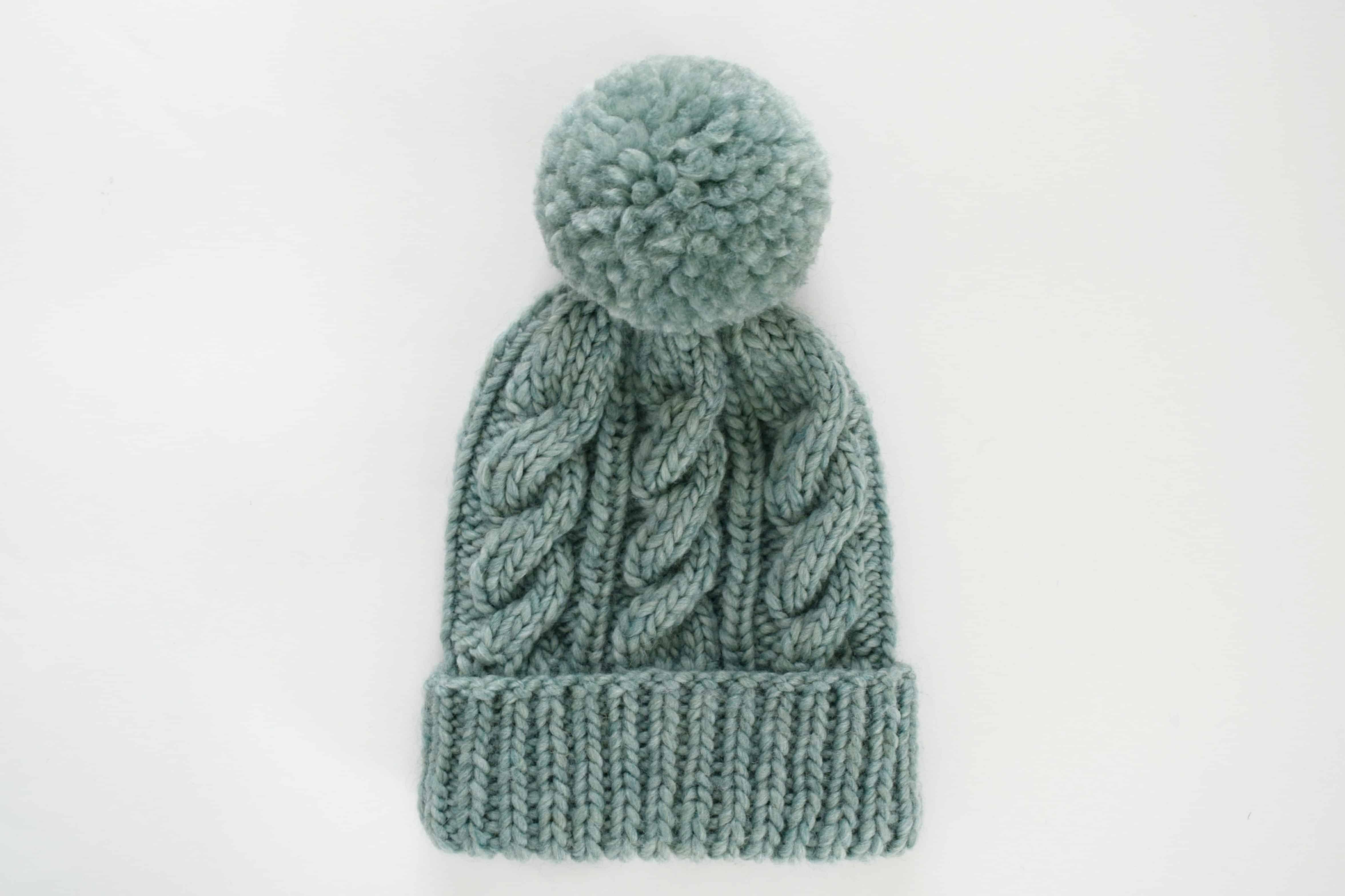 Classic Cabled Hat & Mittens – Free Pattern