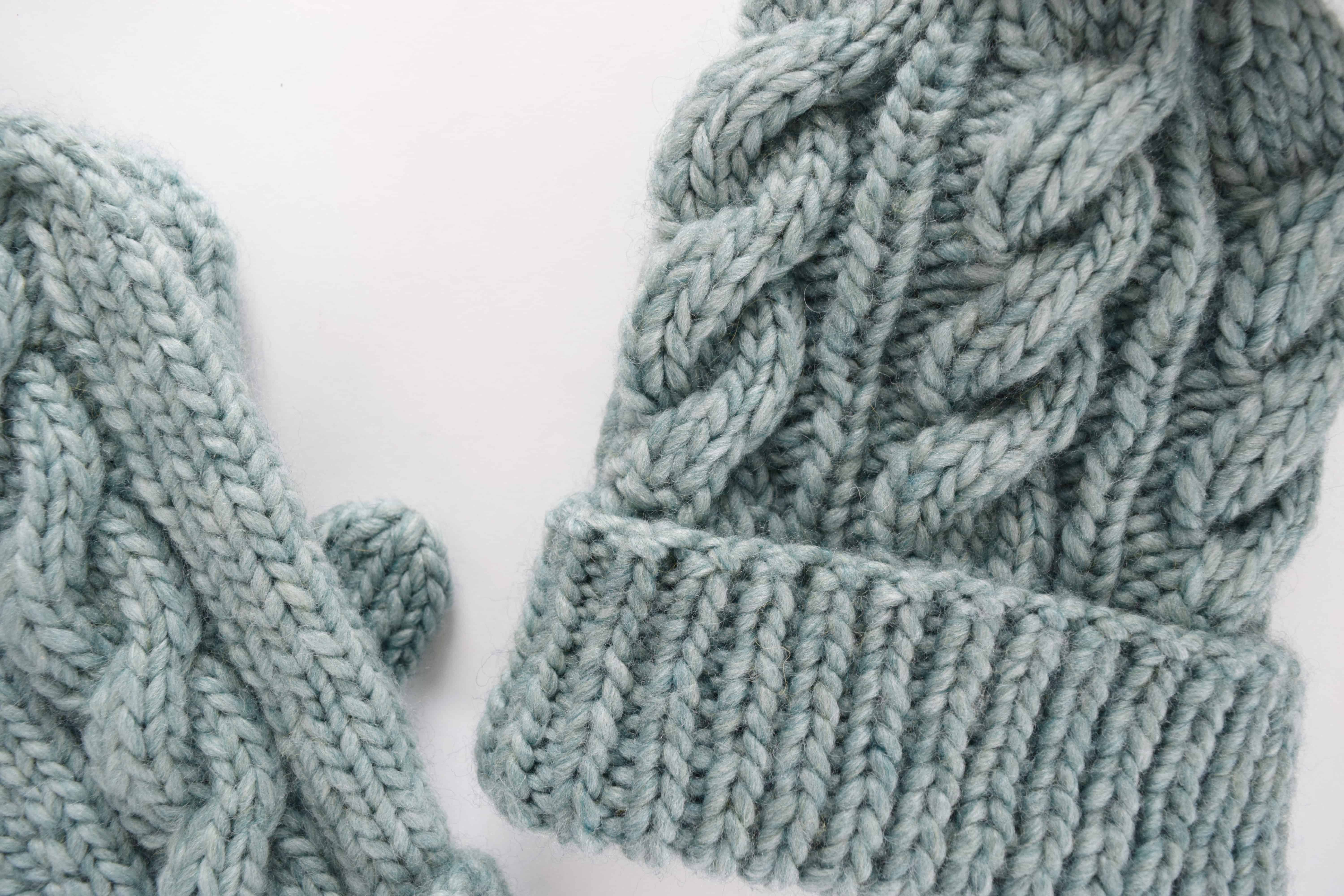 Classic Cabled Hat Mittens Free Pattern