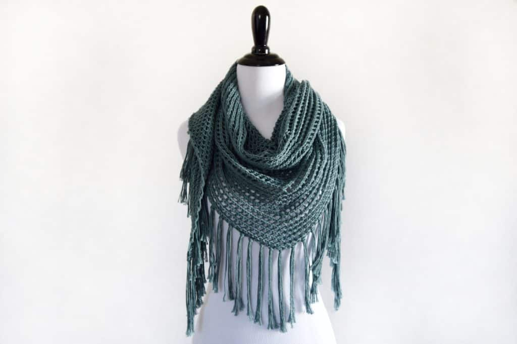 Lace Triangle Shawl - Free Pattern - Knifty Knittings