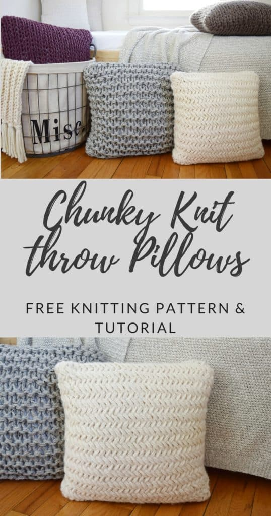 Chunky Throw Pillow Set Free Pattern