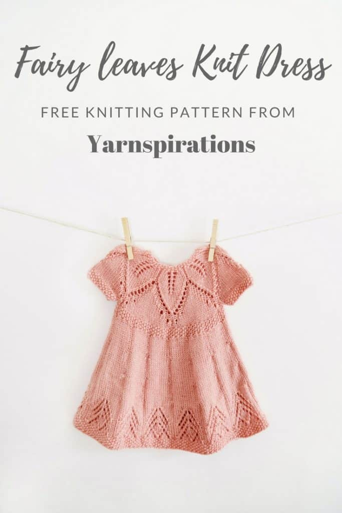 Fairy Leaves Knit Dress Free Pattern From Yarnspirations