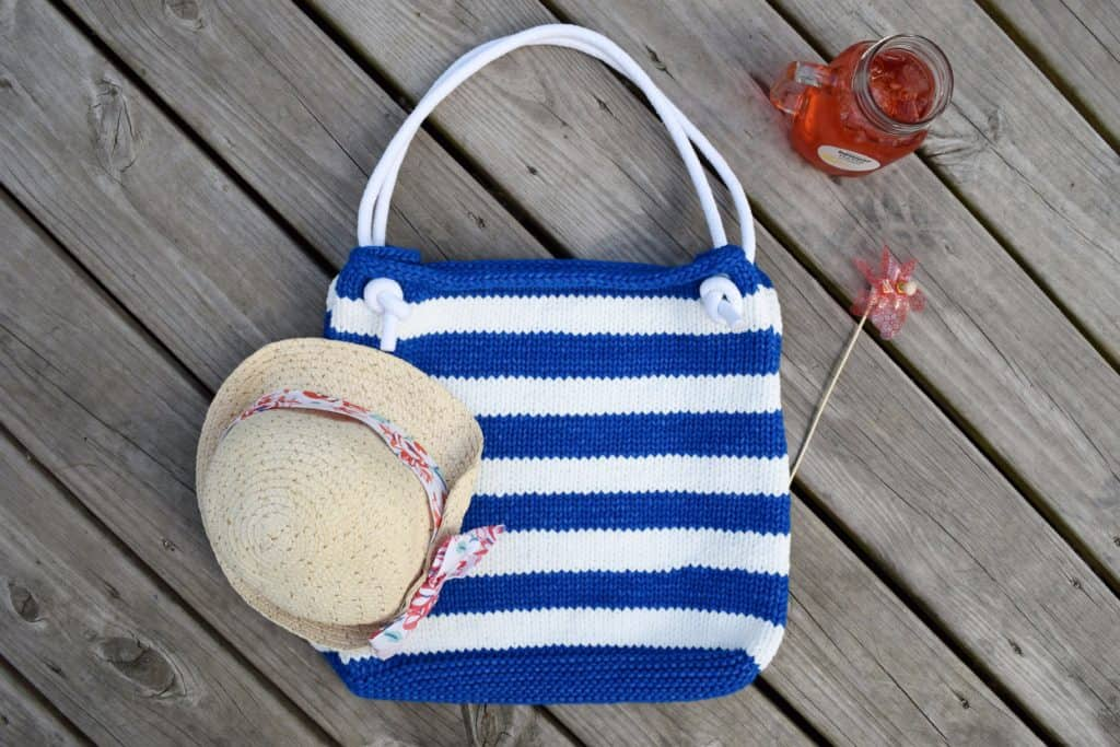 Beachcomber Tote - Free Knitting Pattern - Knifty Knittings