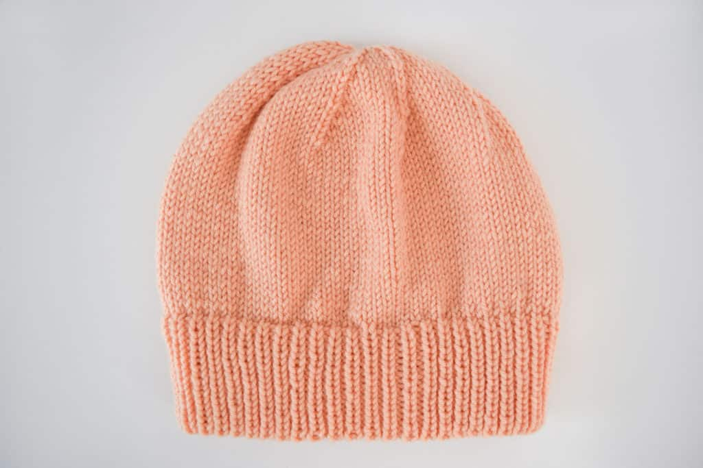 Ribbed Double Brim Knit Hat - Free Pattern