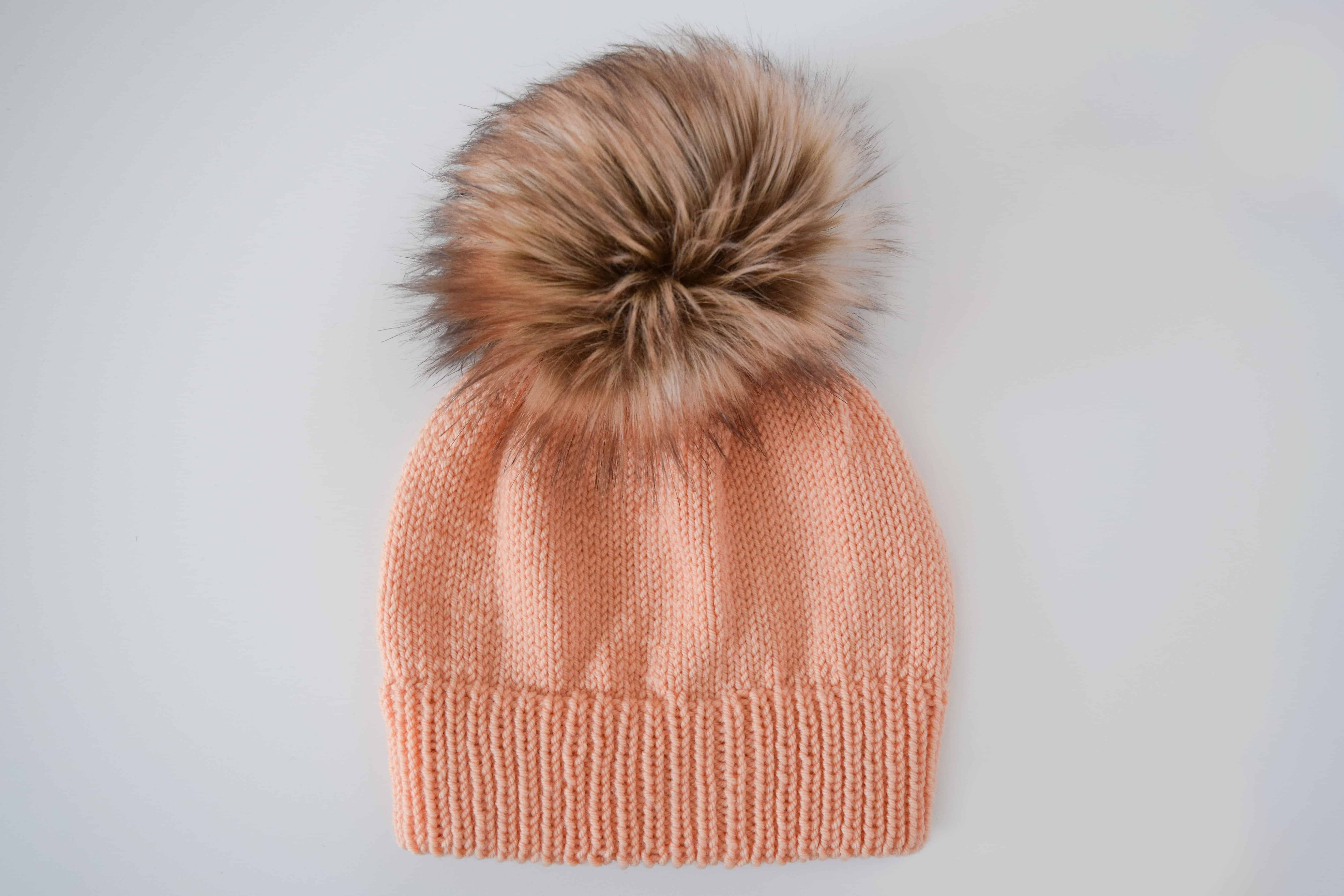 7ff45318d11 Ribbed Double Brim Knit Hat – Free Pattern
