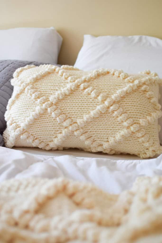 Bobble Knit Throw Pillow