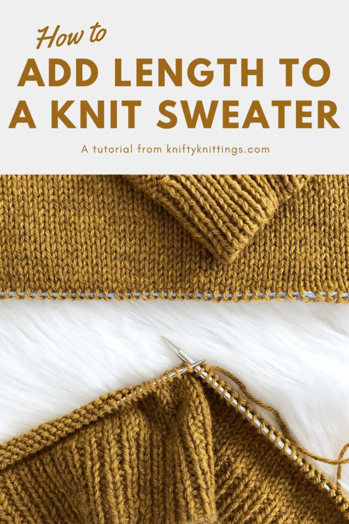 Örgü süvetere uzunluk nasıl eklenir - www.kniftyknittings.com'dan video eğitimi #knittingtutorial #weekendersweater #knitting